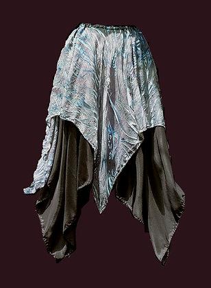 Blue Grey Devore Skirt