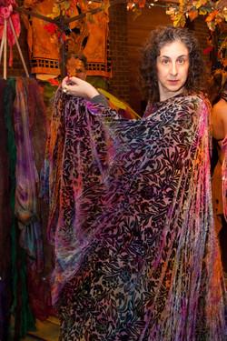 Cut velvet cloak