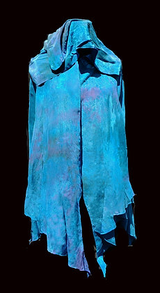 Bright Blue Crepe de Chine Capelet