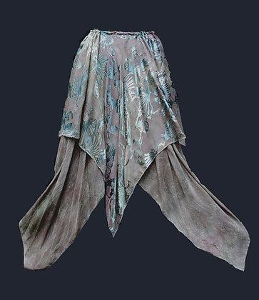long devore skirt in greys