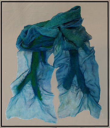 Sea Tones Felted Silkcloque Scarf
