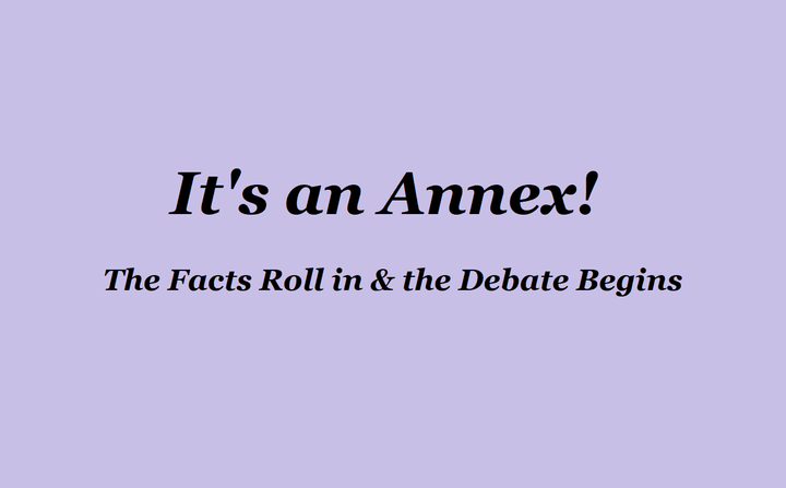 It's Official: It's an Annex Issue