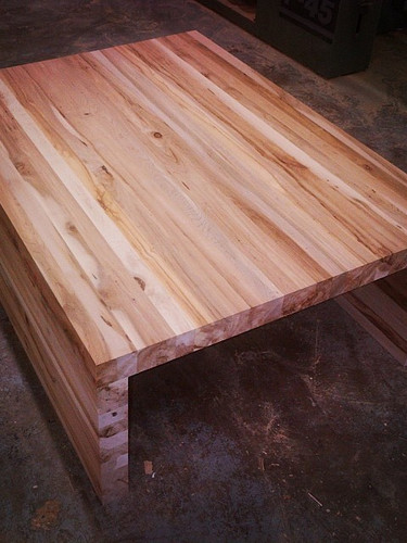 Reclaimed skid wood coffee table_