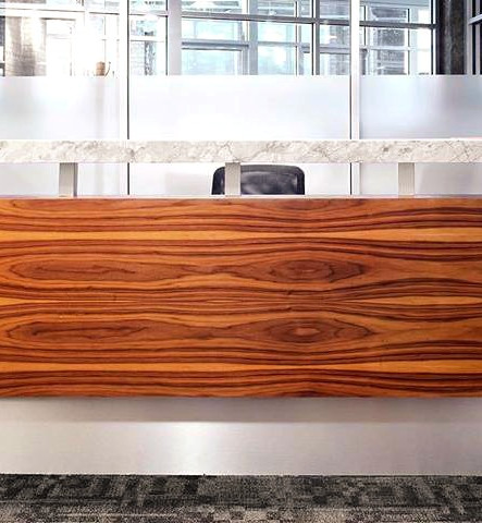 Walnut reception desk_