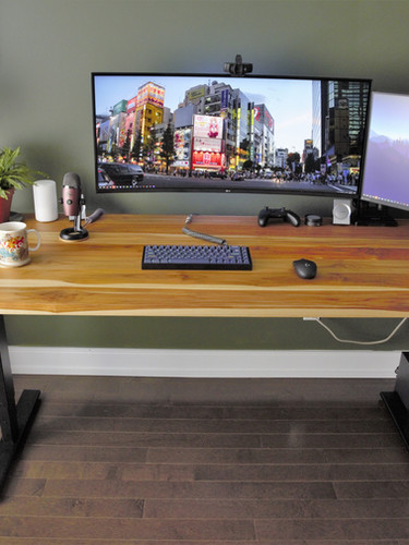 Teak office desk_