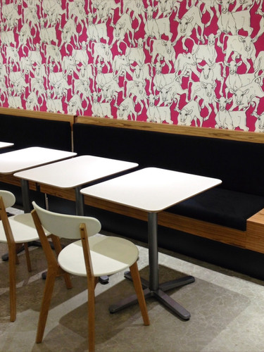 Restaurant bench seating_