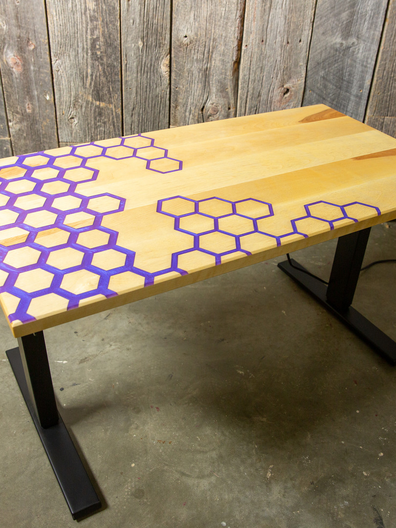 Purple epoxy gaming desk 6