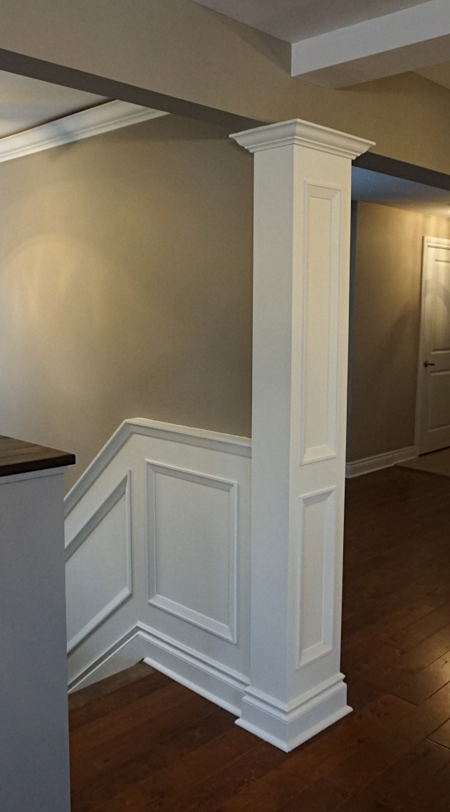 Interior column & wainscoting