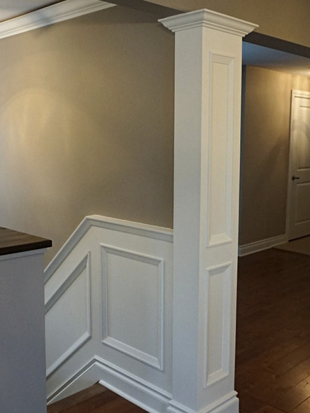 Wainscoting and interior column_