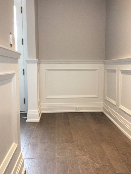 Wainscoting with modern trim_