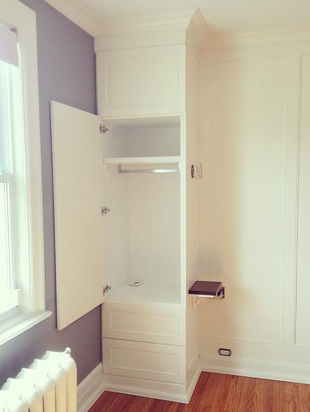Bedroom Closet space.