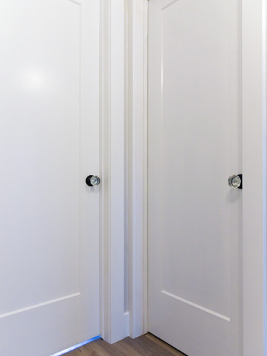 Interior doors with modern trim_
