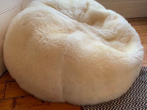 Sheepskin Beanbag Ivory