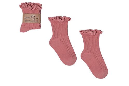 Dirty Pink Socks Mono Baby