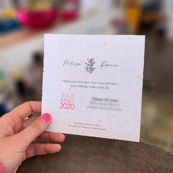 #PAPETERIE → Faire-Part