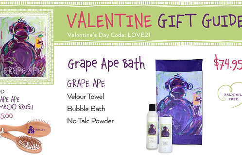 Valentine's Day Grape Ape Bath