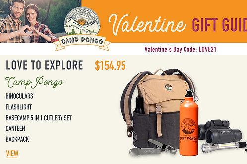 Valentine's Day Camp Pongo Love to Explore