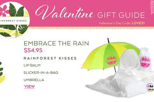 Valentine's Day Rainforest Kisses Embrace The Rain