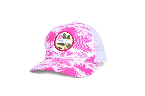 Rainforest Kisses Island Print Trucker Snapback Cap