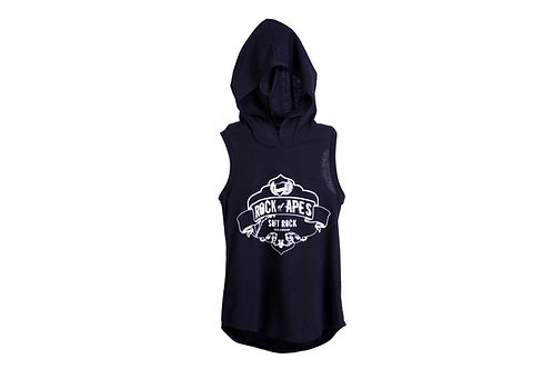 Rock of Apes Sleeveless Hooded T-shirt