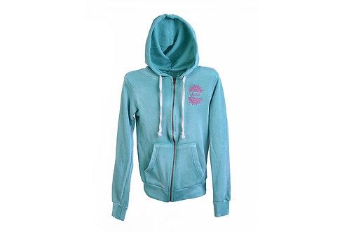 Indah Angel Fleece Juniors Full Zip Hooded Sweatshirt