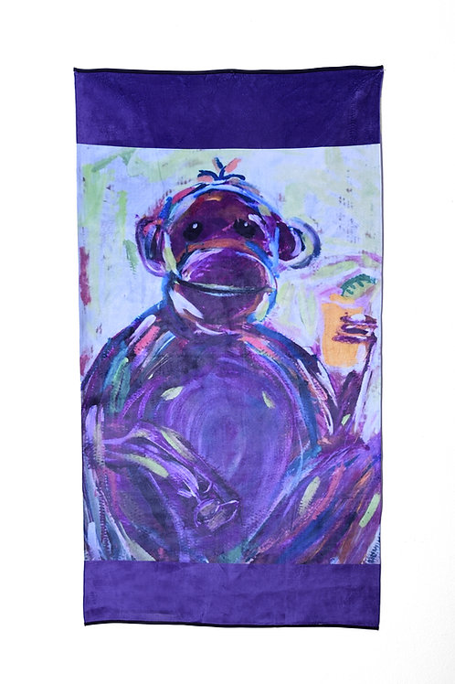 Grape Ape Beach Velour Beach Towel
