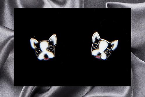 Pongo Pet French Bulldog Face Earrings