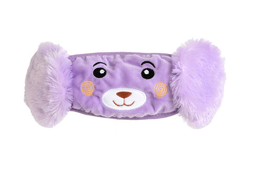 Grape Ape Plush Animal Face Mask with Ear Muffs