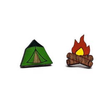 Camp Pongo Camp Fire Earrings