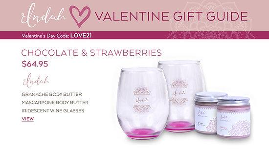 Valentine's Day Indah Chocolate & Strawberries