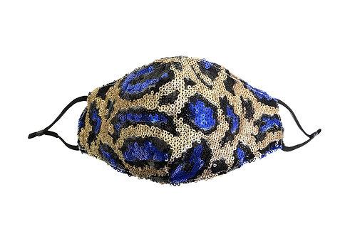 Rainforest Kisses Rhinestone Sequin Mask