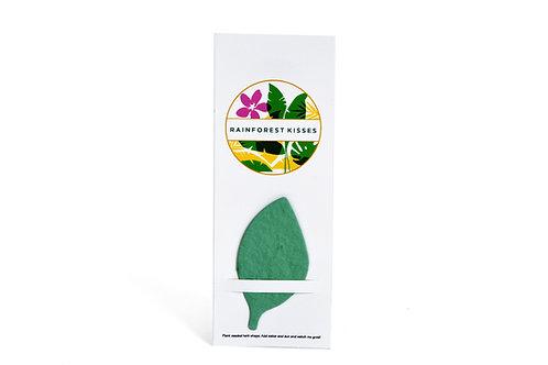 Rainforest Kisses Plant-A-Shape Herb Garden Bookmark
