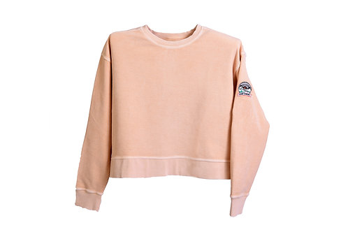 Camp Pongo Cropped Ladies Sweatshirt