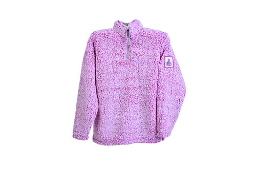 Grape Ape Ladies Sherpa 1/4 Pullover Fleece