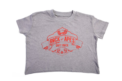 Rock of Apes Soft Rock Vintage Cropped Tee