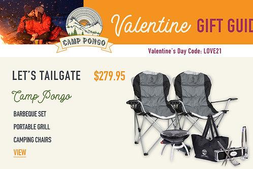 Valentine's Day Camp Pongo Let's Tailgate