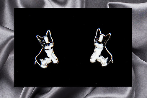 Pongo Pet French Bulldog Earrings