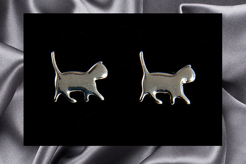 Pongo Pet Sterling Silver Cat Earrings