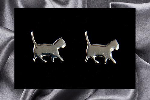 Pongo Pet Sterling Silver Cat Earrings