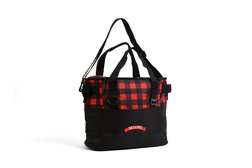 Rock of Apes Buffalo Plaid Cooler Bag