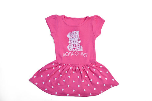 Pongo Pet Lola's Polka-Dot-T-shirt Dress