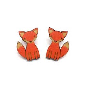 Camp Pongo Curious Fox Earrings