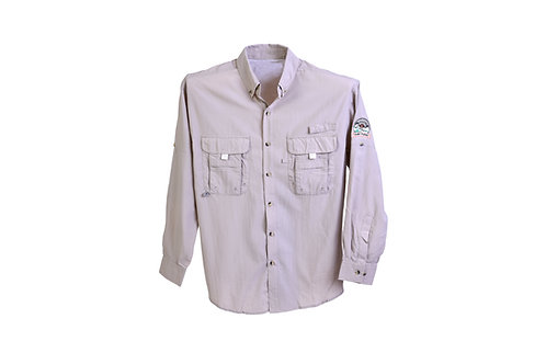 Camp Pongo Men's Double Pocket Long Sleeve Shirt