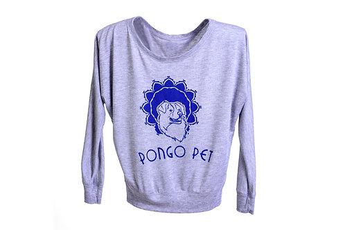 Pongo Pet Arnold's Flowy Off the Shoulder Ladies T-shirt