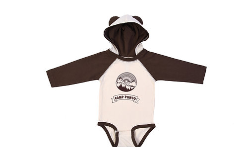 Camp Pongo Hooded Onesie with Ears