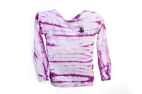 Grape Ape Off the Shoulder Tie-Dyed Sweatshirt