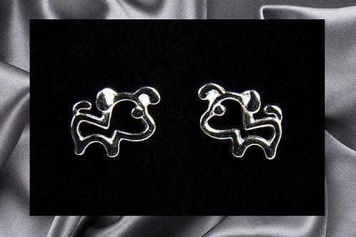 Pongo Pet Sterling Dog Earrings