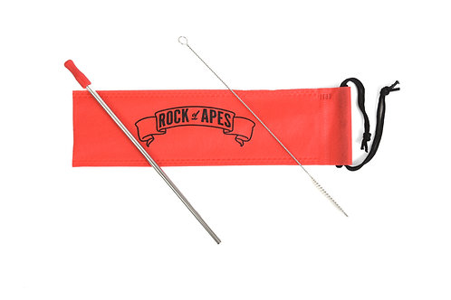 Rock of Apes Stainless Steel Straw