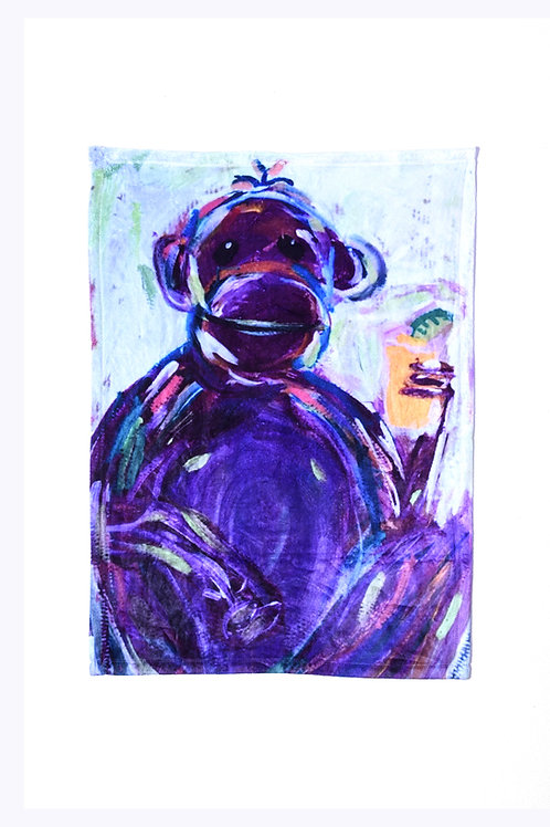 Grape Ape All over Microfleece Baby Blanket