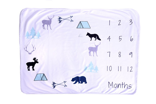 Pongo Baby Great Outdoors Baby Growth Blanket